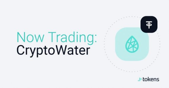 CryptoWater C2O markets are live on Tokens.net exchange