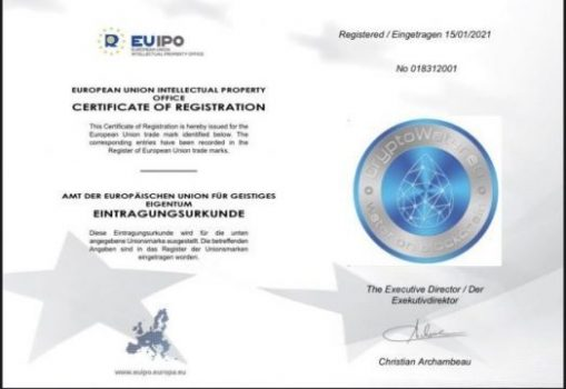 CryptoWater successfully registered trade mark